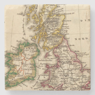 British Isles Map Stone Coaster