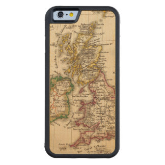 British Isles Map Carved® Maple iPhone 6 Bumper