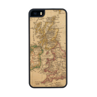 British Isles Map Carved® Maple iPhone 5 Slim Case
