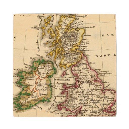 British Isles Map Wood Coaster