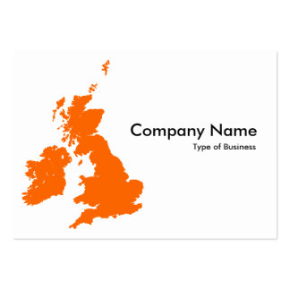 British Isles - Orange Large Business Cards (Pack Of 100)