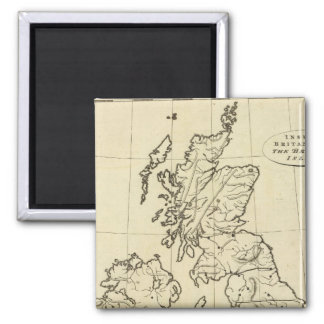 British Isles outline map 2 Inch Square Magnet