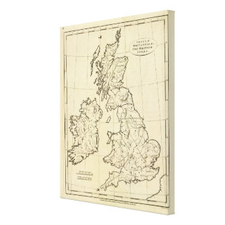British Isles outline map Canvas Print