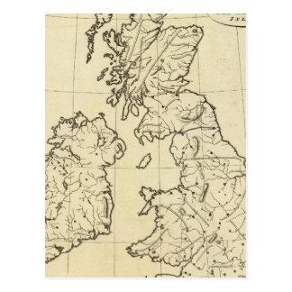 British Isles outline map Postcard