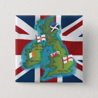 British Isles Pinback Button