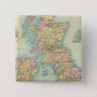 British Isles political map Pinback Button