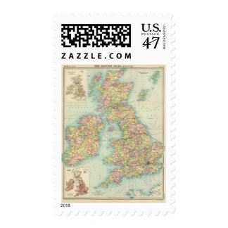 British Isles political map Postage
