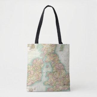 British Isles political map Tote Bag