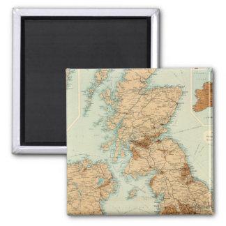 British Isles railways & industrial map Magnet