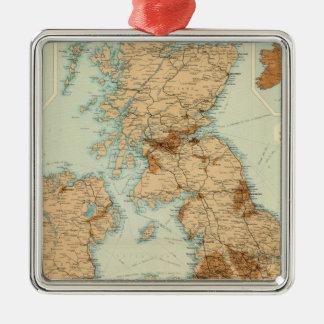 British Isles railways & industrial map Christmas Tree Ornaments