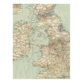 British Isles railways Postcard