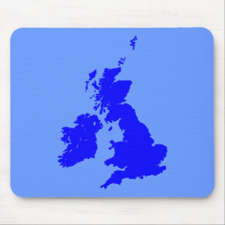 British Isles - Shades of Blue Mouse Pad