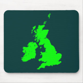 British Isles - Shades of Green Mouse Pad