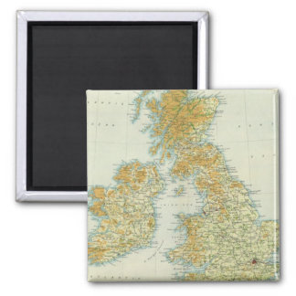 British Isles vegetation & climate map 2 Inch Square Magnet