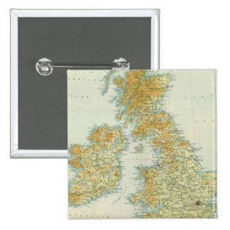 British Isles vegetation & climate map Pinback Button