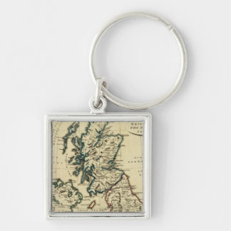 British Isles with boundaries outlined Keychain
