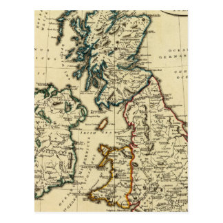 British Isles with boundaries outlined Postcard