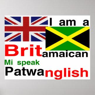 british jamaican poster