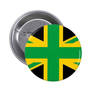 British - Jamaican Union Jack Button
