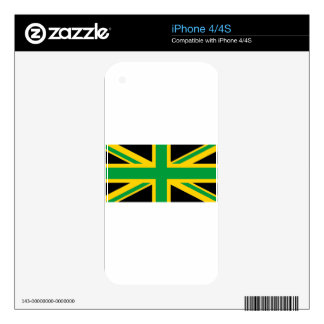 British - Jamaican Union Jack Decal For iPhone 4