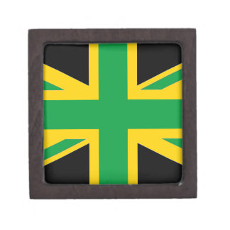 British - Jamaican Union Jack Keepsake Box