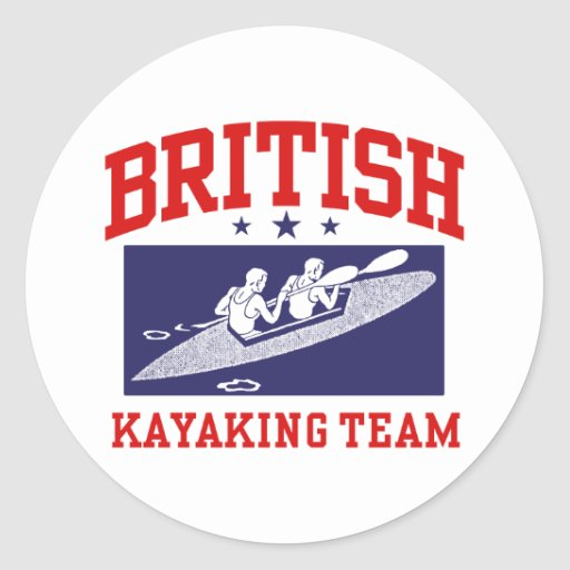 British Kayaking Team Round Stickers