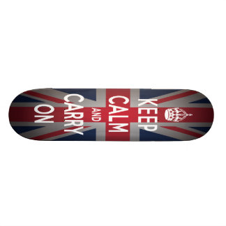 British Keep Calm Carry British Comp Skateboard