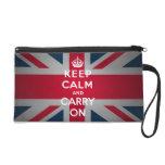 British Keep Calm Carry Wristlet Purse Wallet