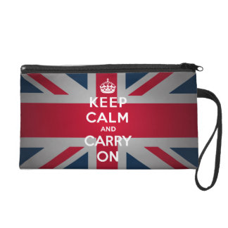 British Keep Calm Carry Wristlet Purse Wallet