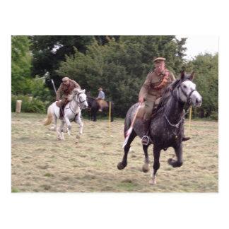 British Lancers Postcard