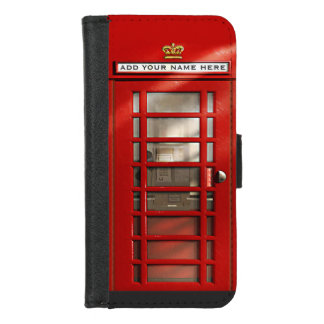 British London City Red Phone Booth iPhone 8/7 Wallet Case