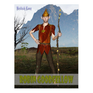 British Lore: Robin Goodfellow Postcard