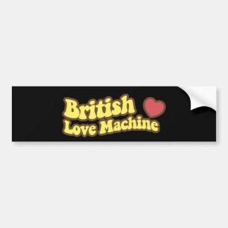 British Love Machine Bumper Sticker