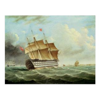 British Man-o'-War Postcard