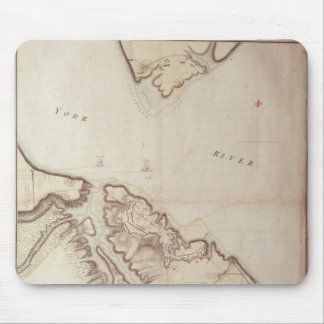 British map of the Siege of Yorktown, 1781 Mouse Pad