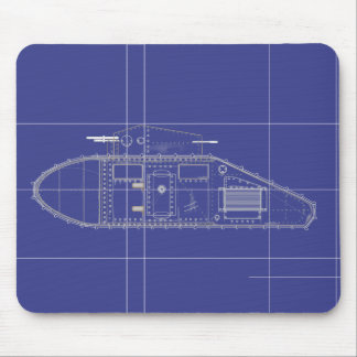 British Mark 1 Tank Mouse Pads
