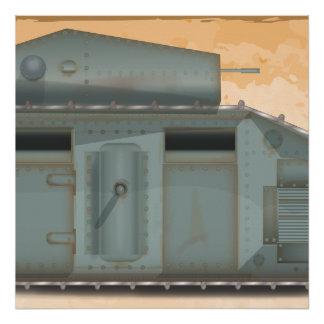 British Mark 1 Tank Poster