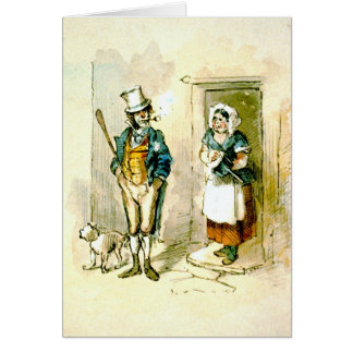 British Married Couple 1846 Card