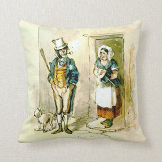 British Married Couple 1846 Throw Pillow