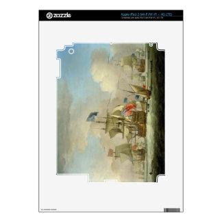 British Men-of-War and a Sloop, c.1720-30 (oil on iPad 3 Skin