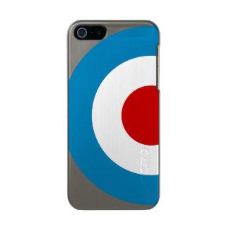 British Mod Target Design Metallic Phone Case For iPhone SE/5/5s