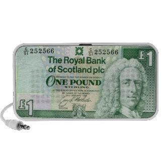 British money Doodle Laptop Speakers