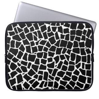 British Mosaic black and White Computer Sleeves
