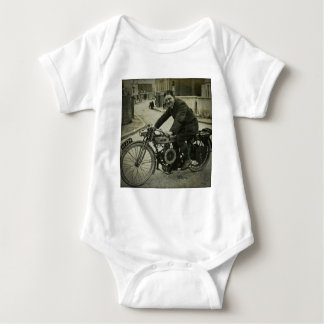 British Motorcycle Vintage Early 1900s Baby Bodysuit