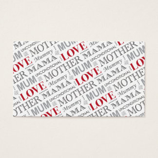 British Mum's Vintage Mother's Day or Birthday Business Card