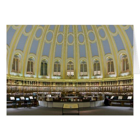 British Museum Reading Room Panorama Card