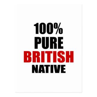 BRITISH NATIVE POSTCARD