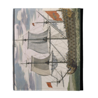 British Navy: a first-rate ship flying the White E iPad Folio Cases