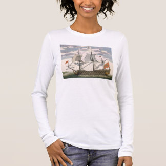 British Navy: a first-rate ship flying the White E Long Sleeve T-Shirt
