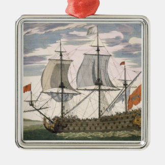 British Navy: a first-rate ship flying the White E Christmas Tree Ornament